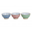 wholesale Crockery: Cereal bowl blue, pink, green ceramic 3 times as