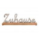 Display Font home made of metal mango wood