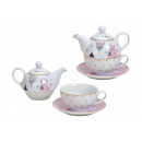 wholesale Crockery: Teapot Set Sayings You and Me from porcelain Wei