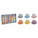 wholesale Crockery: Cups set with saucer, flowers decor of Kerami