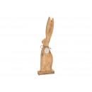 Coniglietto in legno di mango con piastrina metall