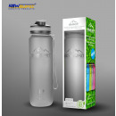 Shaker bpa free gray 1000ml sports bottle
