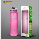 Sports bottle shaker bpa free pink 550ml