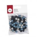 Wooden beads, matt, 8 mm, 65 pieces