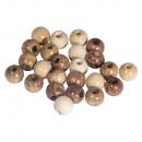 Wood bead mixture, FSC 100%, 6mm ø, natural,