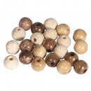 Miscela di perle di legno, 100% FSC, 8mm ø, natura