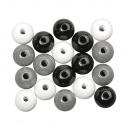 Holz Perlen Mischung FSC 100%, 6mm ø, schwarz,