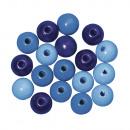 Houten kralenmengsel FSC 100%, 6 mm ø, 115 stuks