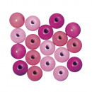 Holz Perlen Mischung FSC 100%, 10mm ø, rosé, 52