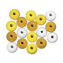 Mélange de perles de bois FSC 100%, 12mm ø, 32 piè