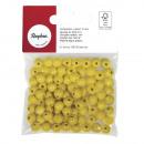 Wood Beads FSC 100%, polished, 8mm ø, yellow, 82 p