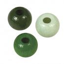Holz Perlen Mischung FSC 100%, 6mm ø, hellgrün,