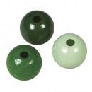Holz Perlen Mischung FSC 100%, 8mm ø, hellgrün,