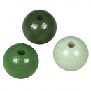 Holz Perlen Mischung FSC 100%, 12mm ø, hellgrün,