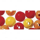 Houten kralenmengsel FSC 100%, 12 mm ø, 32 stuks