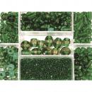 Glass bead box, emerald, 115 g