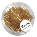 Glazen pinnen gedraaid, 20 mm, goud, 13 g