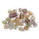 Perle di gioielli con filo d'argento, rosé, 20