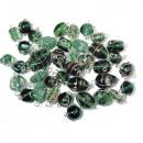 Perle di gioielli con filo d'argento, smeraldo