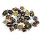 Jewelry beads with silver wire, topaz, 20 g