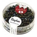 Perles de rocaille Papillon, émeraude, 18 g