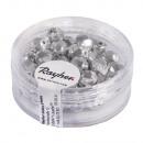 Glass cut pearl, 6mm ø, brilliant silver, 50 pcs
