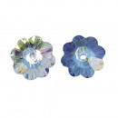 Swarovski crystal flower, moonstone, 20 pieces