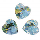 Swarovski kristallen hart, maansteen, 3 stuks