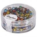 Rocailles, 4 mm ø, ezüst bevitel, vegyes, 17