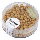 Metallic seed beads, matt, 4mm ø, golden yellow, 1