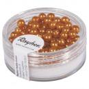 Renaissance glass wax beads, 4mm ø, golden yellow,