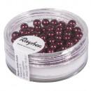 Renaissance glass wax beads, 4mm ø, burgundy, 85 p