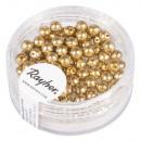 Renaissance glass wax beads, 4mm ø, gold, 85 piece