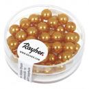 Renaissance glass wax beads, 6mm ø, golden yellow,