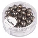 Renaissance glass wax beads, 6mm ø, taupe, 45 pcs