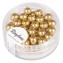 Renaissance glass wax beads, 6mm ø, gold, 45 piece