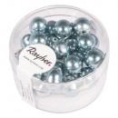 Renaissance Glass Wax Beads, 8mm ø, Delicate Blue,