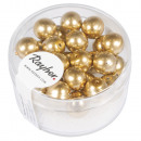 Renaissance glass wax beads, 8mm ø, gold, 25 piece