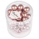 Renaissance glass wax beads, 10mm ø, antique rose,