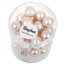 Renaissance glass wax beads, 10mm ø, rose, 35 pcs