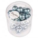 Renaissance Glass Wax Beads, 10mm ø, Delicate Blue