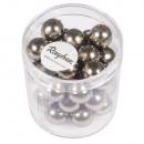 Renaissance glass wax beads, 10mm ø, taupe, 35 pcs