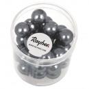 Renaissance glass wax beads, 10mm ø, anthracite, 3