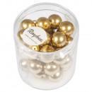 Renaissance glass wax beads, 10mm ø, gold, 35 pcs