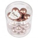 Renaissance glass wax beads, 12mm ø, antique rose,