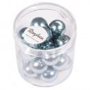 Renaissance Glass Wax Beads, 12mm ø, Delicate Blue