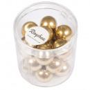 Renaissance glass wax beads, 12mm ø, gold, 21 pcs