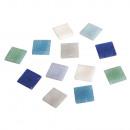 Piedras de mosaico, azul claro, 1 Kg