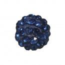 Shamballa gyöngy, 10 mm ø, királykék, 1 darab