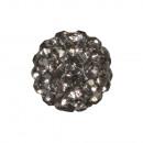 Shamballa gyöngy, 10 mm ø, antracit, 1 darab